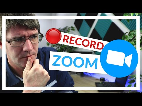 How to Record a meeting in Zoom (Video and Audio)