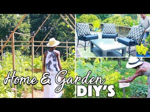 HOME & GARDEN DIY'S /DECK CHAIRS/SIGN/TRELLIS ARBOR /A BEAUTIFUL NEST