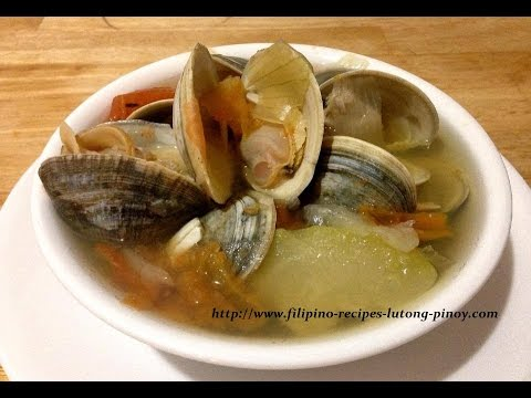 How to Cook Filipino Clam Soup or Halaan Soup - Mga Lutong Pinoy