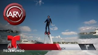 Edgardo del Villar aprende a volar en flyboard | Al Rojo Vivo | Telemundo