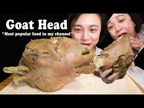 The Most Popular Food in My Channel (GOAT HEAD ) | Eating Show & Soft Talking | ASMR Aquarius