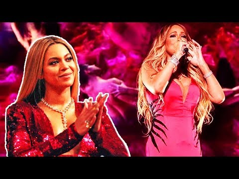 This Is What Happens When Mariah Carey Sings In Front Of Beyoncé!