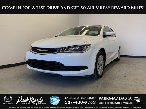 WHITE 2015 Chrysler 200  Review   - Park Mazda