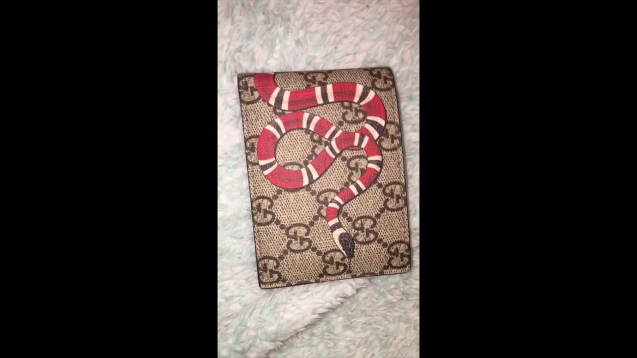 4d103612b402 Gucci GG Supreme Kingsnake print Wallet ( After a month wear) - YouTube