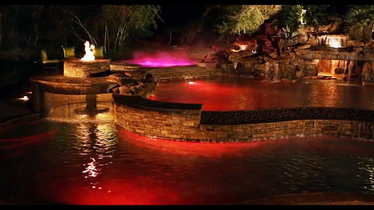 Pool lighting show twilight youtube for Pool light show waikiki