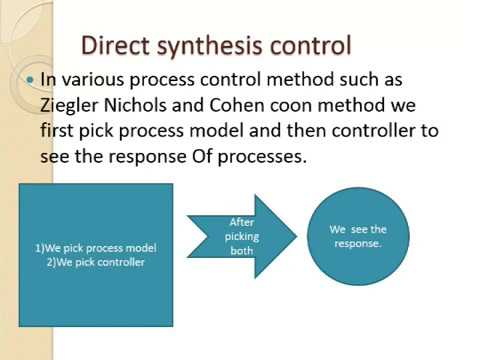 MODEL BASED CONTROLLER DESIGN METHODS +Direct synthesis control