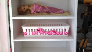 Home Built Doll Wardrobe/closet/organizer For American Girl, Barbies, Lalaloopsy, Etc Dolls!