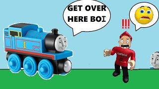 Roblox Thomas o trem está tentando me pegar