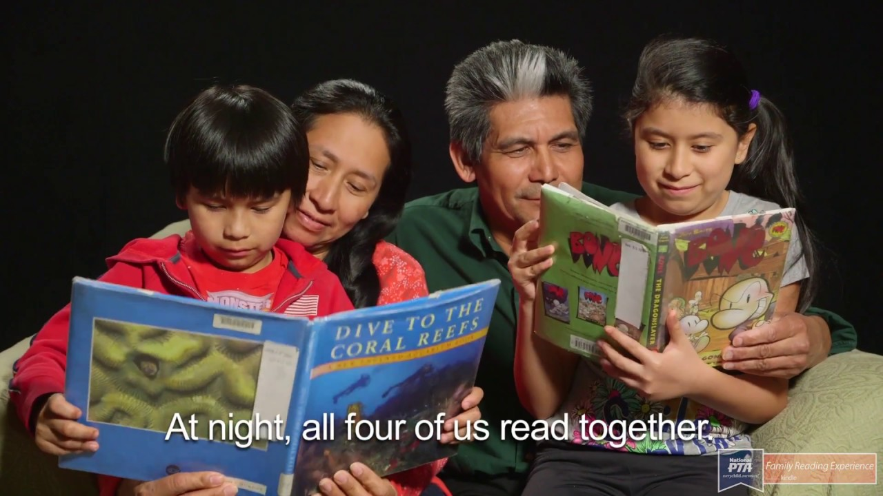 pta family reading experience reading together and learning