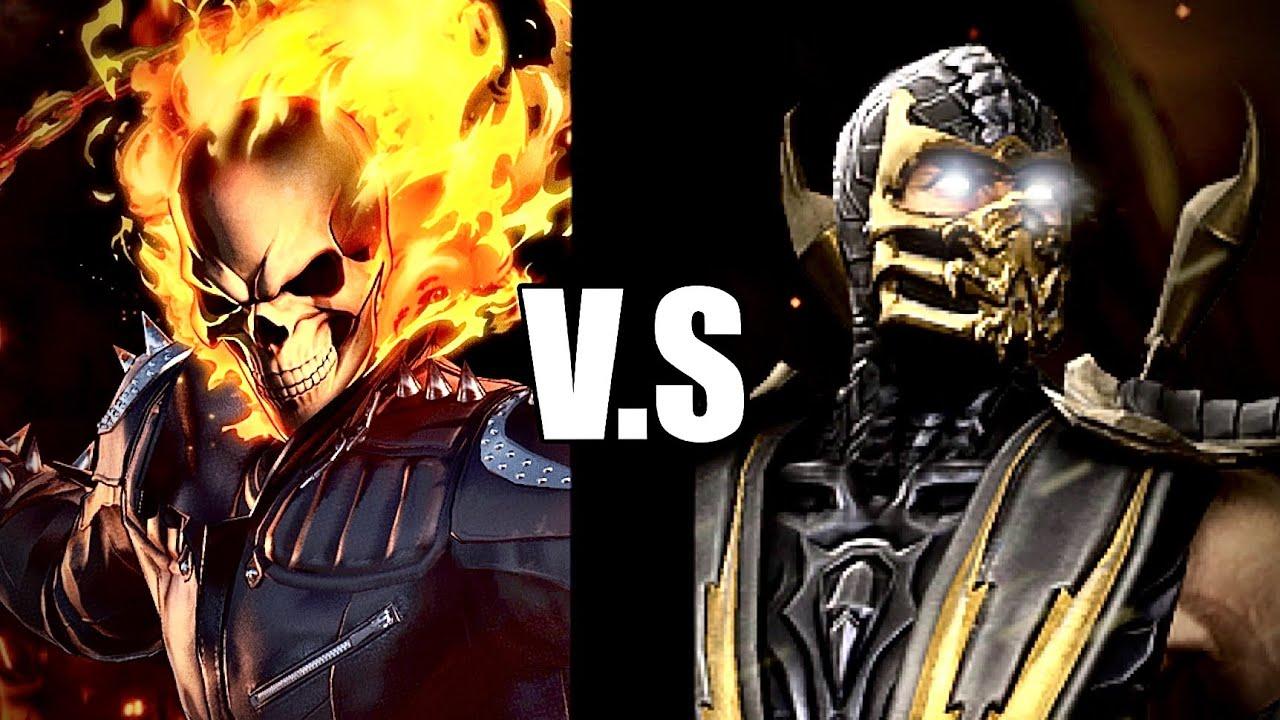 Ghost Rider vs Scorpion - YouTube