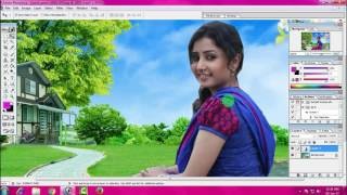 how to change background adobe photoshop 7.0 in hindi