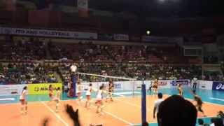 Matchpoint Air Asia flying spikers versus Cagayan valley lady rising suns July 13, 2014