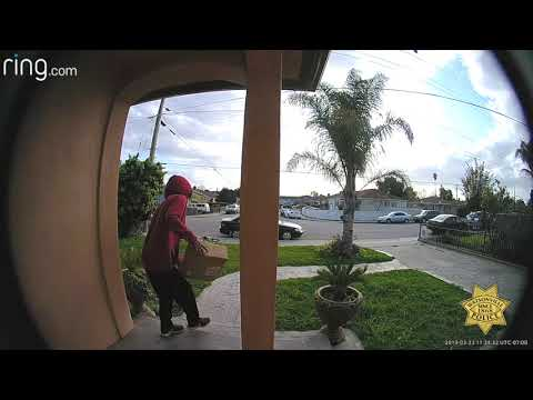 Porch pirate caught on camera snatching package in less than 20 seconds