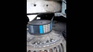 Замена ремня генератора на короткий шкиф-кондиционер двигатель 3S-FE