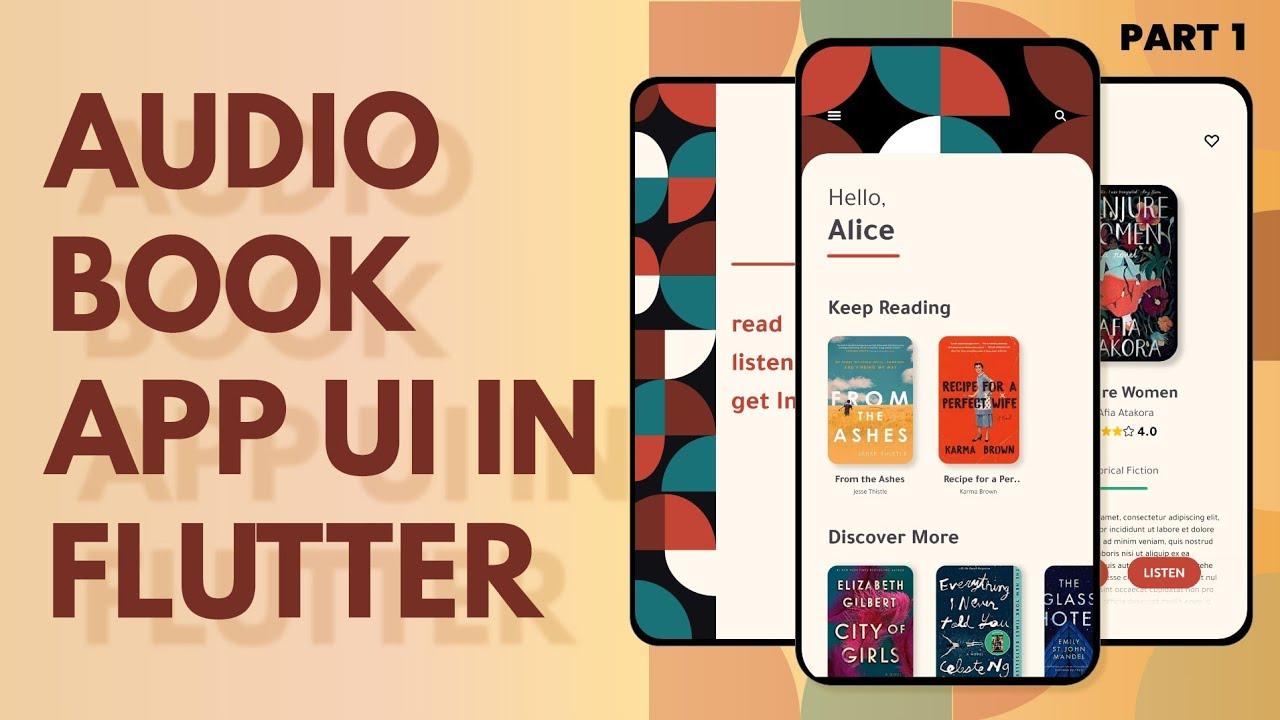Audio Books App UI-PART-1-Speed Code-FLUTTER-Simple   Clean   UI