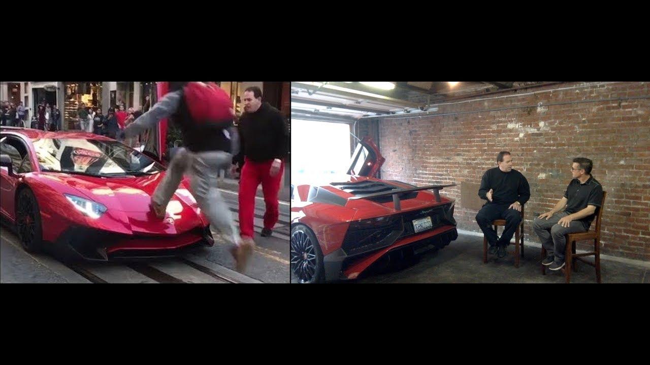 Guy Runs Over Lamborghini Aventador SV - Hear From the Owner