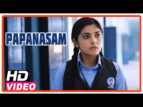 Papanasam Tamil Movie | Scenes | Police Questioning Nivedha At Her School