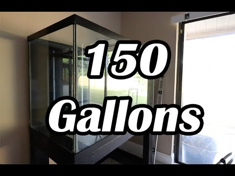 150 GAL Aquascape Aquarium Build 1 Of 2