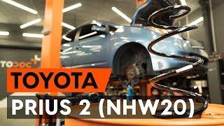 Hogyan cseréljünk Fékpofakészlet rögzítőfék TOYOTA PRIUS Hatchback (NHW20_) - video útmutató