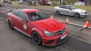 1100HP Mercedes-Benz C63 AMG Coupe GAD Motors vs 1080HP C63 AMG GAD Motors