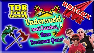 Roblox Dungeon Quest: Underworld (89-93+) and Treasure Quest (1-20+) - Stream