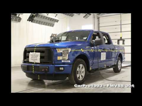2015-2020 Ford F-150 Crew Cab FMVSS 301 Rear Crash Test (50 Mph)