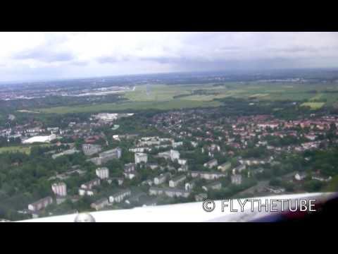 ILS Approach to RWY 09 at Bremen, BRE EDDW, Airport, HD Cockpit View