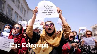 video: Watch: Women stage protest in Kabul as Taliban prepares to announce government