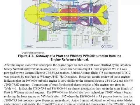 9/11 Wrong Engine - Pratt & Whitney PW4000 FEMA NIST NCSTAR 1-2B