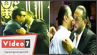 إيهاب توفيق ومصطفى كامل وحجازى متقال فى عزاء أسرة أحمد العيسوى