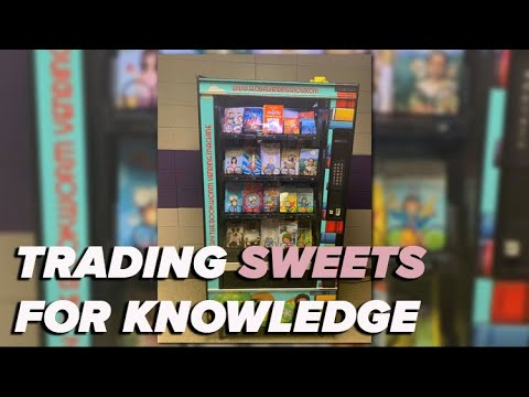 England Elementary School trades sweets for knowledge with book vending machine