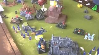 1 vs1 vs 1 Maelstrom of War - Dark Eldar, Space Wolves, Astra Militarum