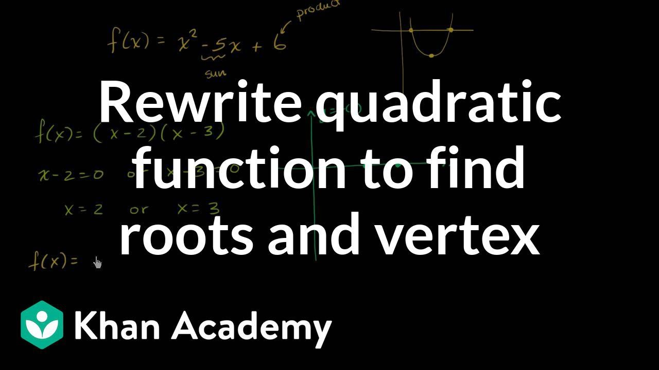Forms & features of quadratic functions (video) | Khan Academy