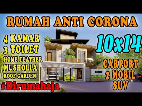 DESAIN RUMAH ANTI CORONA #dirumahaja 10X14 DESIGN BY ORLEANS STUDIO