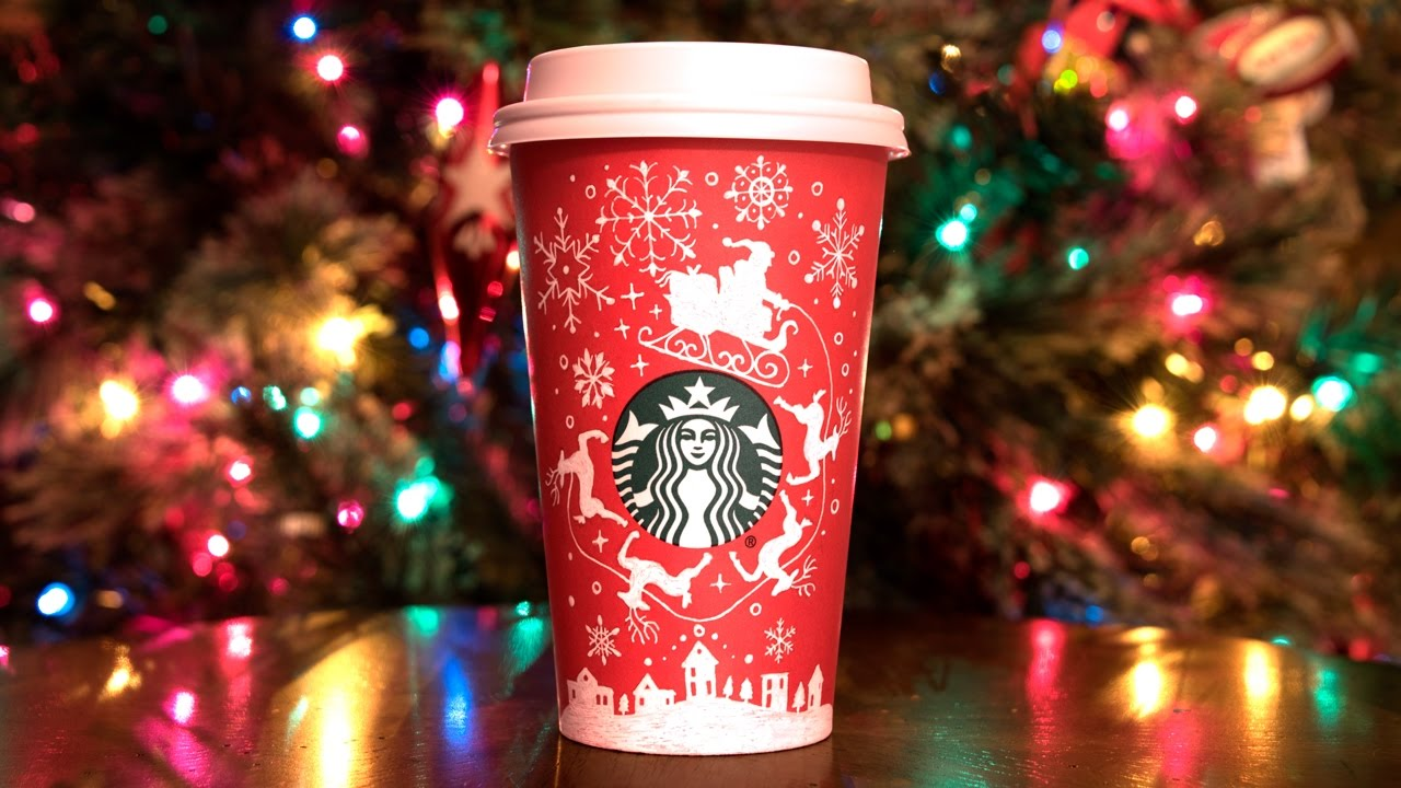 Starbucks Christmas Cups.Drawing On My Starbucks Red Cup 2016