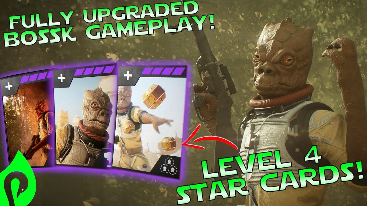 Star Wars Battlefront 2 Fully Upgraded Bossk Gameplay Killstreak