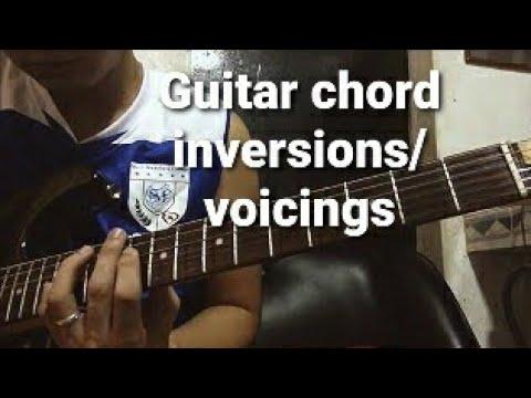 Guitar Chord Inversionsvoicings G C Em D Youtube