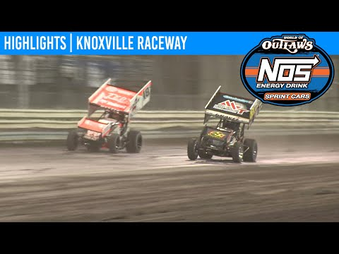 World of Outlaws NOS Energy Sprint Car Series Feature Event Highlights from Knoxville Raceway in Knoxville, Iowa on May 8th, 2020. To view the full race, visit ... - dirt track racing video image
