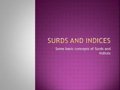 surds and indices pdf for ssc