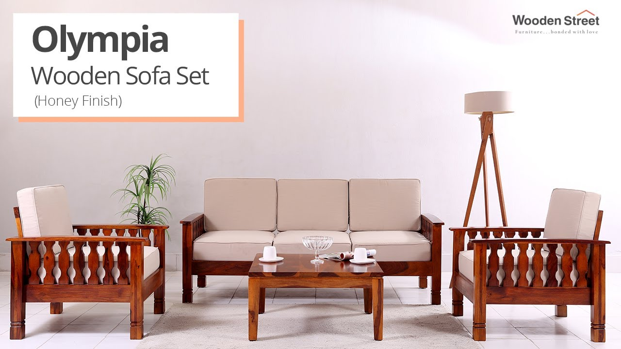 Wooden Sofa Olympia Wooden Sofa Set Design By Wooden Street Youtube