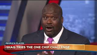 Shaquille O'Neal tries the HOT chip too