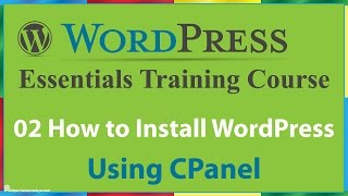 02 How to Install WordPress in CPanel
