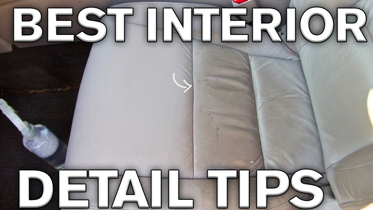 good leather cleaner for sofas big sofa echtleder braun best interior detailing tricks and plastics youtube