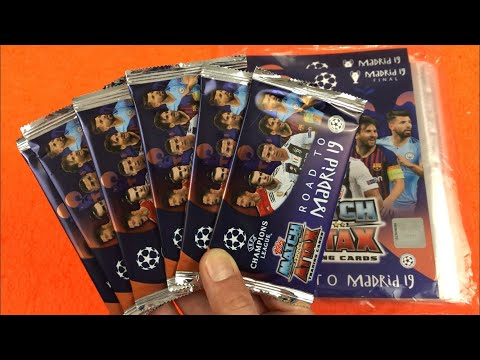 BUSTINE + STARTER PACK MATCH ATTAX Champions League ROAD TO MADRID 19