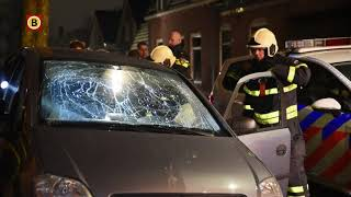 Auto en huis bekogeld met bakstenen en zwaar vuurwerk in Tilburg