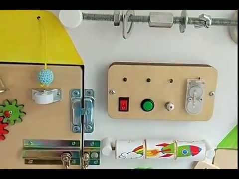 Бизиборд Доска знатока, доска с замочками, развивающая доска, доска для развития мелкой моторики