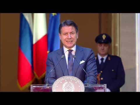 Conferenza stampa Conte-Putin a Palazzo Chigi