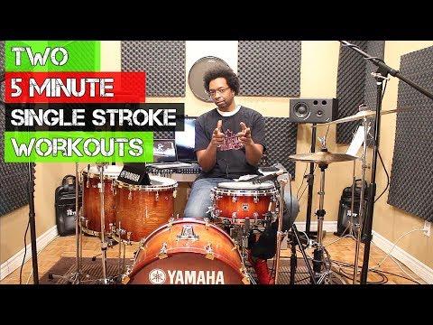 TWO 5 MINUTE SINGLE STROKE WORKOUTS  Developing Great Hands w Beatdown