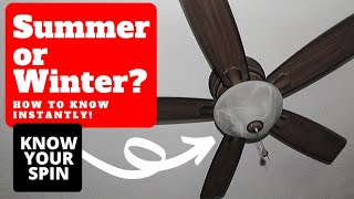 Ceiling Fan Settings (Winter or Summer?)