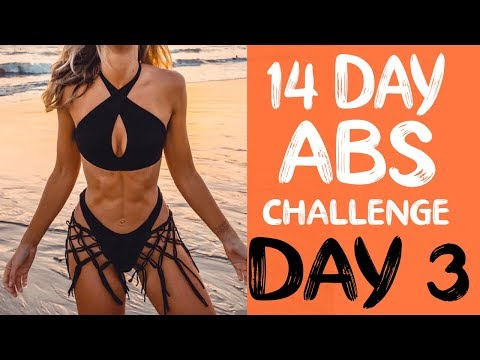 14 DAY ABS CHALLENGE   Workout 3   6 PACK INTENSE ABS & FAT BURN